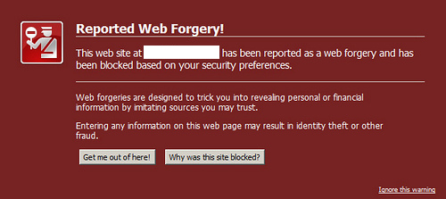 Reported web forgery